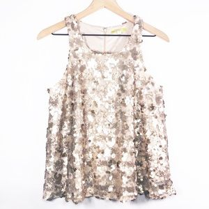 Gianni Bini gold sequin racerback tank small